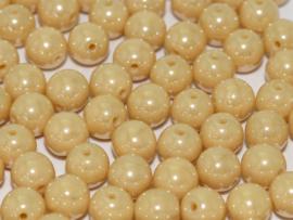 Tsjechisch/Czech rond 4mm Ivory Shimmer, per 100 stuks
