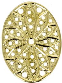 Neumann Claspgarten Filigraan Ovaal 29x19 mm 23KT Gold Plated, per stuk