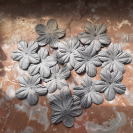 Bloemblaadje 3,5cm Grijs, per 14 stuks