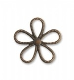 Vintaj Brass 24mm Beaded Flower, per stuk