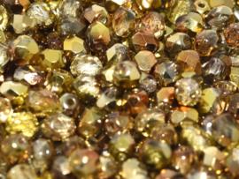 00030/98002Fire Polished Sunny Magic 4mm Crystal Sunny Magic Gold, 100, of 50 stuks, vanaf