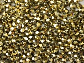 00030/26440 Fire polished 3mm Crystal Amber Full, 100 of 50 stuks, vanaf