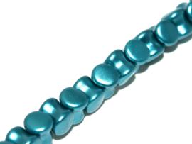 Diabolo  Beads Alabaster Pastel Emerald, per  streng van 50 stuks