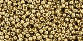 TR-11-PF0592 TOHO 11/0 PermaFinish Galvanized Golden Fleece, per 10 gram