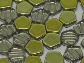 Pego Bead 10 mm Crystal Amber, per 5 stuks