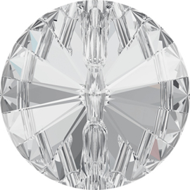 Swarovski #3015 Rivoli Button 12mm Crystal, per stuk