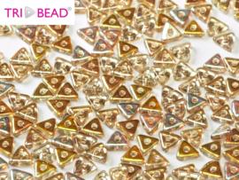 Tri-bead Crystal Lemon Rainbow, per 5 gram (±140 stuks)