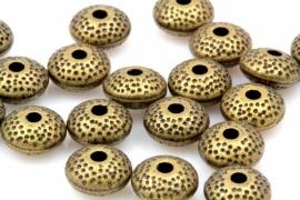 Bronskleurige disckraal zware kwaliteit 8.5 mm en 5mm dik per 10 stuks