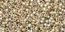 TR15-0262 Inside Color Antique Gold Lined Crystal, per 5 gram