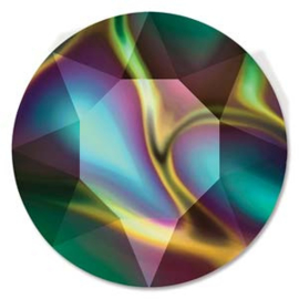Swarovski #1088 39ss Crystal Rainbow Dark foiled, per 2 stuks