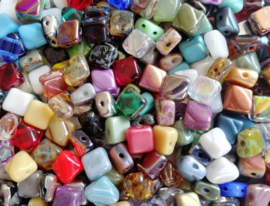 Silky Beads Colour Mix, per 20 stuks