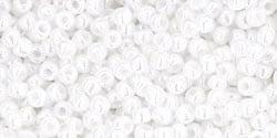 TR-11-Y0121 TOHO 11/0 Opaque Lustered White, per 10 gram