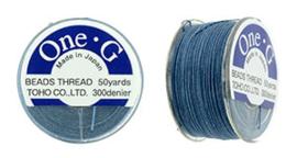 PT-50-10 TOHO One-G Thread 50 Yard Blue, per rol van 45 meter
