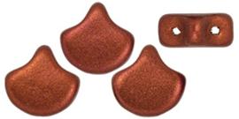PBGIN-K0175 Matubo Ginko/Gingko Leaf Matte Metallic Dark Copper, per 5 gram