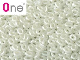 One® Bead Alabaster Pastel White, per 5 gram