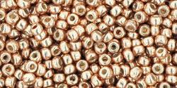 TR-11-PF0551 TOHO 11/0 PermaFinish Galvanized Rose Gold, per 10 gram