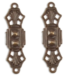 Vintaj Treasured Filigree Connector 24x7mm, per 2 stuks