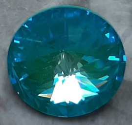 Swarovski #1122 14mm Rivoli Crystal Laguna DeLite LacquerPRO, per stuk