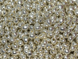 DP1051 Miyuki Drops 2,8mm Galvanized Silver, per 10 gram