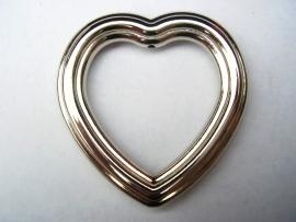 Hanger open hart 4.5cm per 10 stuks