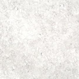 DB0141 Miyuki Delica 11/0 Transparant Crystal, per 5 gram