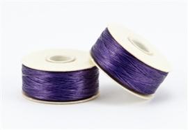 Beadalon Nymo rijggaren D (0.3 mm), donkerbruin, paars, wit, per 58,5m rol
