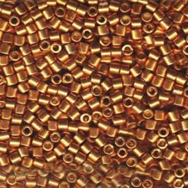 DBM1833 Miyuki Delica's 10/0 Duracoat Galvanized Yellow Gold, per 5 gram