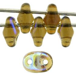 MSD-X10230 SuperDuo Smoky Topaz AB, per 10 gram