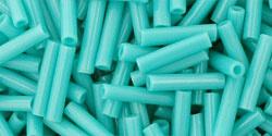 TB-03-55 Bugle #3 Opaque Turquoise, per 10 gram