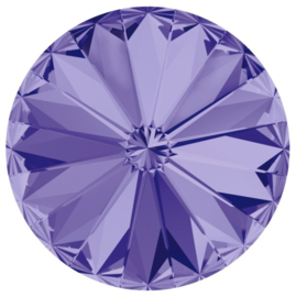 Swarovski #1122 14mm Rivoli Tanzanite, foiled, per stuk