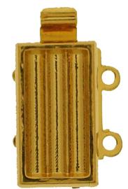 14843/02 Neumann Claspgarten 13x7mm Schuifslot met 2 ogen 23KT Gold Plated 13x7mm, per stuk