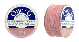 PT-50-05 TOHO One-G Thread 50 Yard Pink, per rol van 45 meter