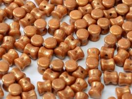 Diabolo  Beads Chalk White Gold Luster, per 50 stuks
