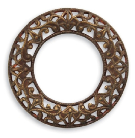 Vintaj Scrolled Filigree Ring 28mm, per stuk