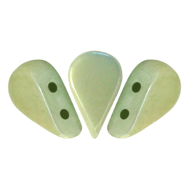 Amos® par Puca® Opaque Light Green Ceramic Look, per 25 stuks