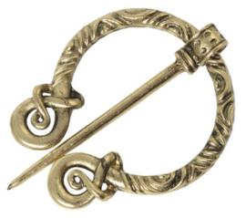Sjaalspeld goudkleurig, 5x5,5cm, naald 6,8cm, per stuk