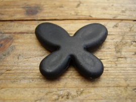 Vlinder zwart hout 3 cm