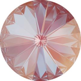 Swarovski #1122 Rivoli 14mm Crystal Lotus Pink Delite, per stuk