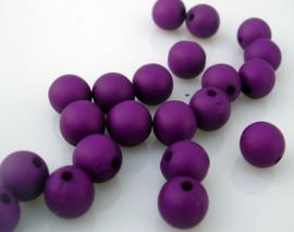 Matte acryl kraal paars 8mm per 25 gram ongeveer 90 stuks