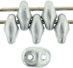 MSD-K0170 SuperDuo Matte Metallic Silver, per 10 gram