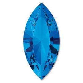 Swarovski #4228 Navette 15x7mm Sapphire foiled, per stuk