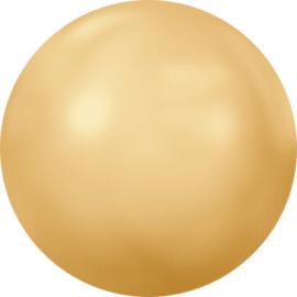 Swarovski #2080/4HF Cabochon Hot Fix 7,17mm/SS34 Crystal Gold Pearl, per 5 stuks