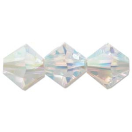 #5328 03mm Crystal AB2x, 48 stuks €5,65, per 2 stuks €0,30