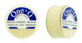 PT-50-13 TOHO One-G Thread 50 Yard Cream, per rol van 45 meter