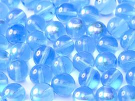 RB8-30060/28701 rond 8 mm Sapphire AB, per 25 stuks