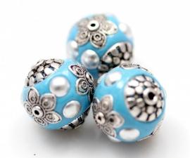 Kashmirikraal 19mm babyblauw per stuk