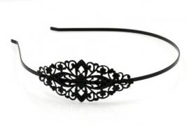 Haarband filligraan black plated.(pakketpost)