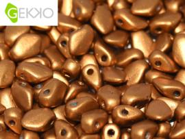Gekko 3x5mm Brass Gold, per 5 gram