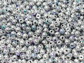 RB6-00030/98553 rond 6mm Crystal Glittery Silver, per 30 stuks