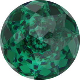 Swarovski #1400 Dome 12mm Emerald, foiled, per stuk